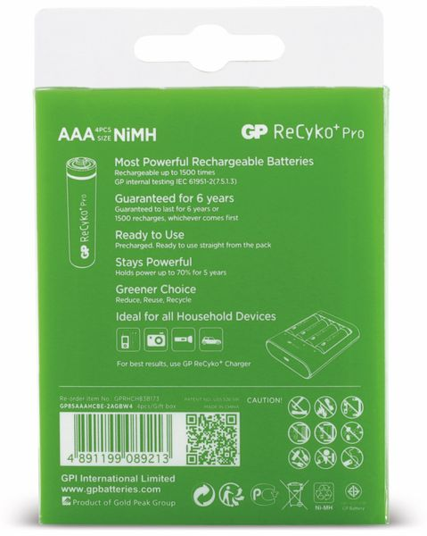 NiMH-Micro-Akku-Set GP ReCyKo+ - Produktbild 6