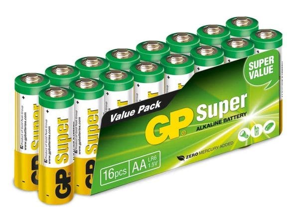 Mignon-Batterie-Set GP Super Alkaline, 16 Stück