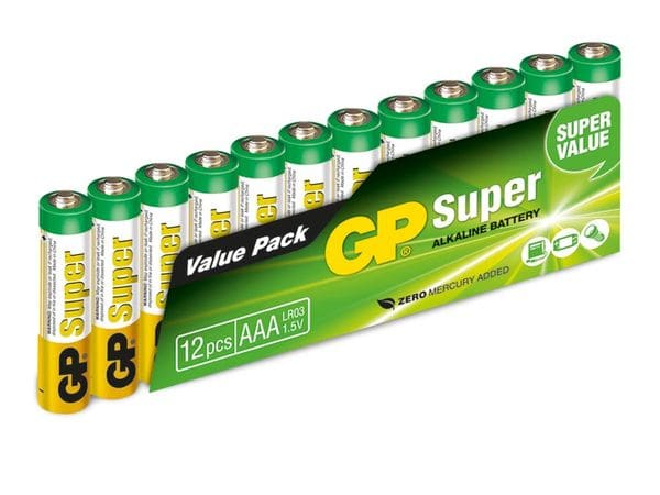 Micro-Batterie-Set GP Super Alkaline, 12 Stück