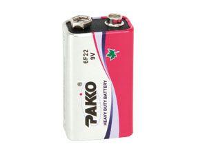 9 V-Blockbatterie PAKKO 6F22 Heavy Duty
