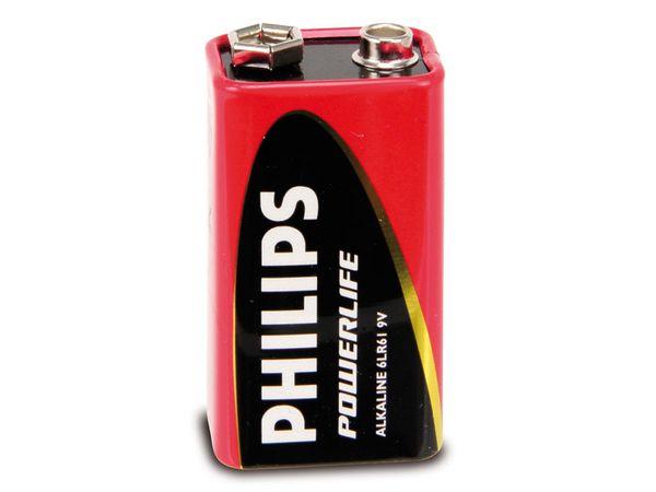9 V-Blockbatterien PHILIPS PowerLife, 8 Stück
