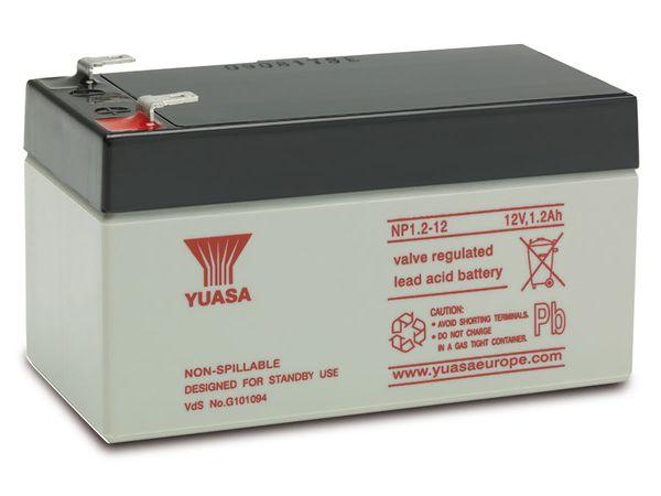 Blei-Akkumulator YUASA NP1.2-12, 12 V-/1,2 Ah