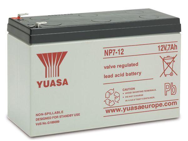 Blei-Akkumulator YUASA NP7-12, 12 V-/7 Ah
