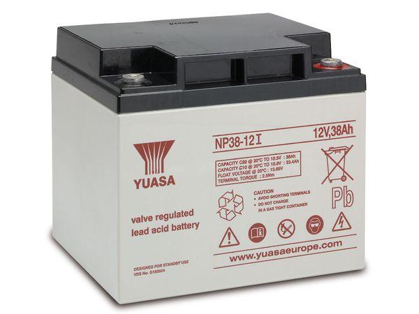 Blei-Akkumulator YUASA NP38-12I, 12 V-/38 Ah