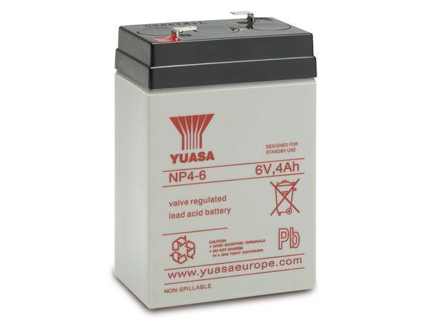 Blei-Akkumulator YUASA NP4-6, 6 V-/4 Ah