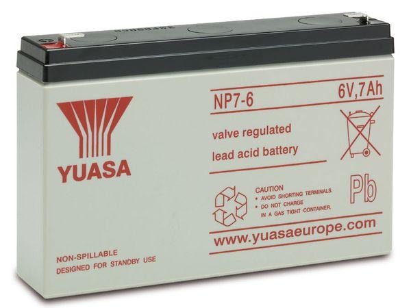 Blei-Akkumulator YUASA NP7-6, 6 V-/7 Ah