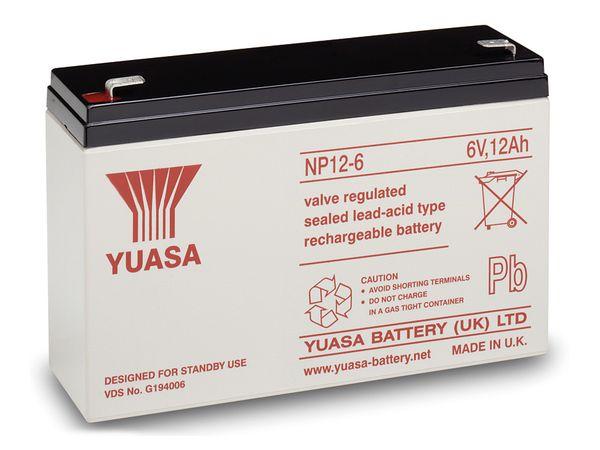 Blei-Akkumulator YUASA NP12-6, 6 V-/12 Ah