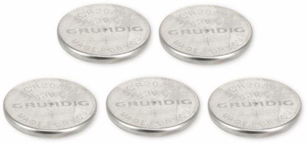 Knopfzelle, GRUNDIG, CR2032, Lithium, 3 V, 200 mAh, 5 St. - Produktbild 1