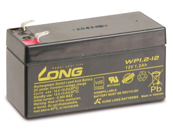 Blei-Akkumulator KUNG LONG WP1.2-12, 12 V-/1,2 Ah