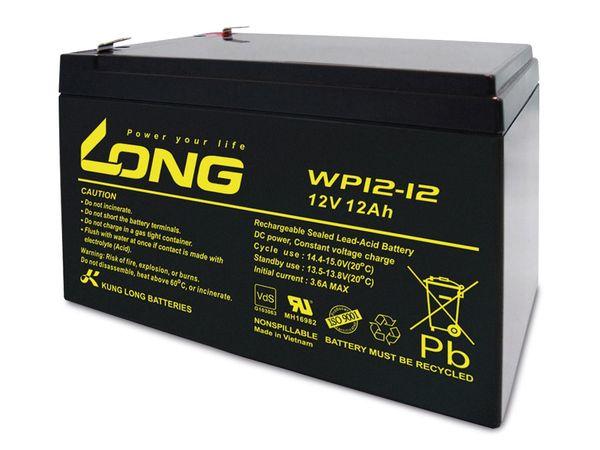 Blei-Akkumulator KUNG LONG WP12-12, 12 V-/12 Ah