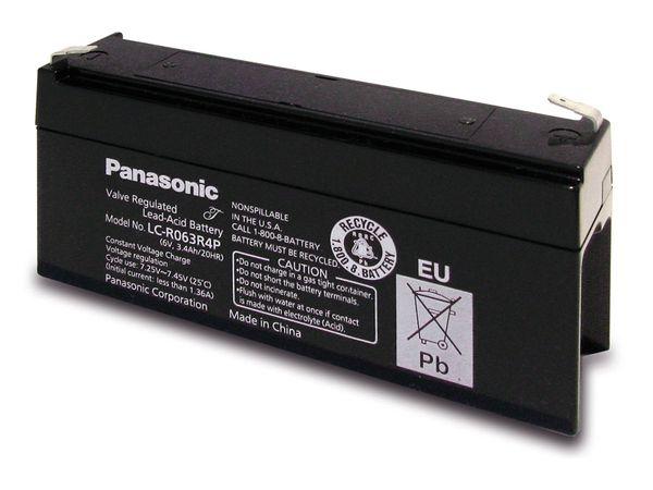 Bleiakkumulator PANASONIC LC-R063R4P, 6 V-/3,4 Ah - Produktbild 1