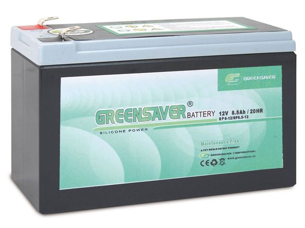 Blei-Silikon Akkumulator GREENSAVER SP8.5-12 (SP6-12)
