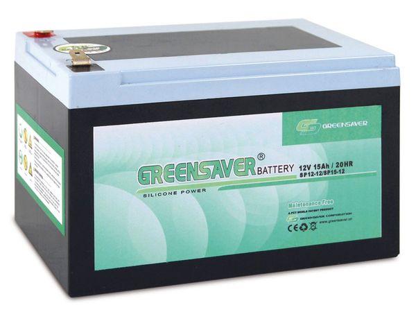 Blei-Silikon Akkumulator GREENSAVER SP15-12 (SP12-12)