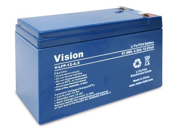 LiFePO4 Akku VISION LFP124.5, 12 V-/4,5 Ah