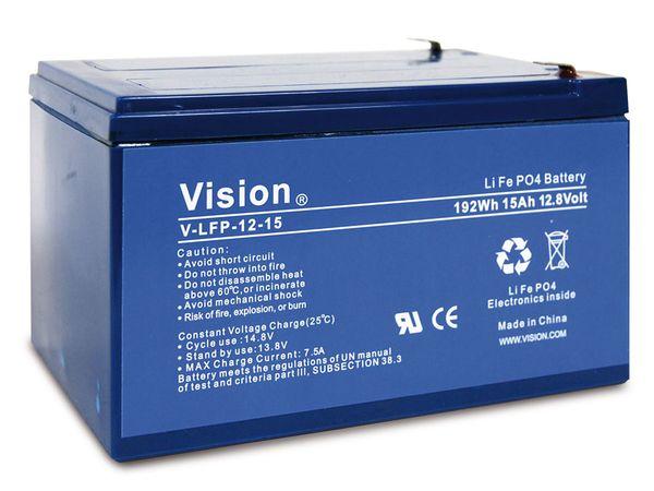 LiFePO4 Akku VISION LFP1215, 12 V-/15 Ah