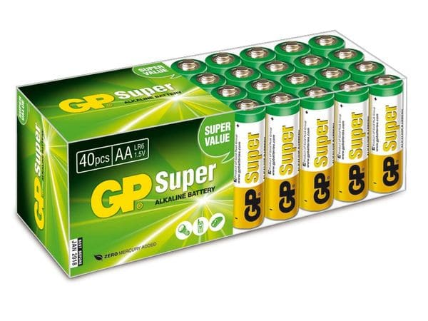 Mignon-Batterie-Set GP SUPER Alkaline, 40 Stück