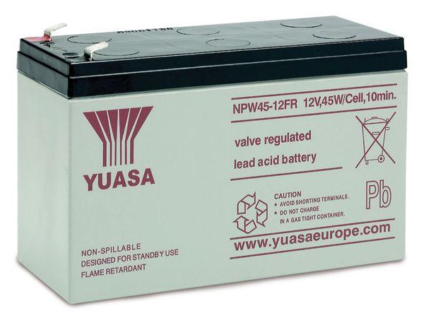 Blei-Akkumulator YUASA NP45-12, 12 V-/8,5 Ah