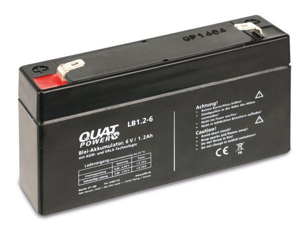 Blei-Akkumulator QUATPOWER LB1.2-6, 6 V-/1,2 Ah