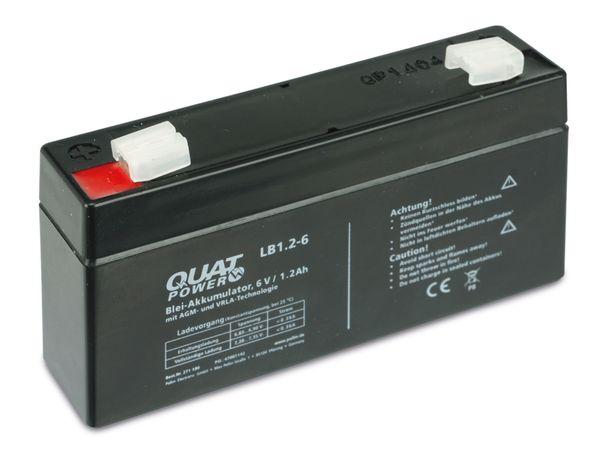 Blei-Akkumulator QUATPOWER LB1.2-6, 6 V-/1,2 Ah - Produktbild 3
