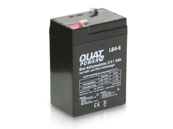 Blei-Akkumulator QUATPOWER LB4-6, 6 V-/4 Ah