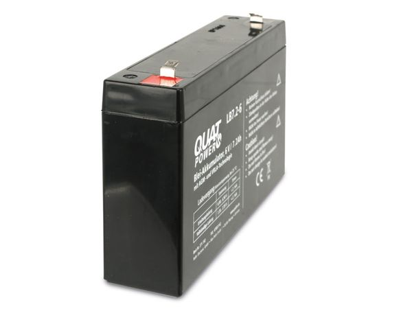 Blei-Akkumulator QUATPOWER LB7.2-6, 6 V-/7,2 Ah - Produktbild 2