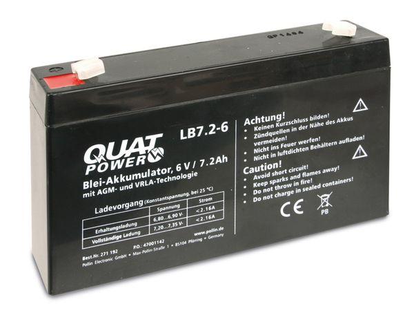 Blei-Akkumulator QUATPOWER LB7.2-6, 6 V-/7,2 Ah - Produktbild 3