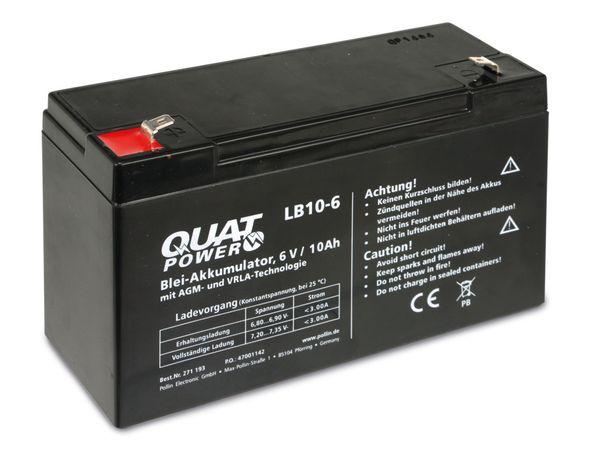 Blei-Akkumulator QUATPOWER LB10-6, 6 V-/10 Ah - Produktbild 1