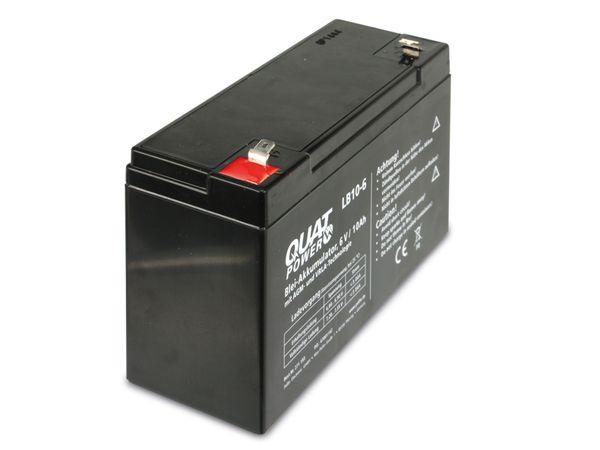 Blei-Akkumulator QUATPOWER LB10-6, 6 V-/10 Ah - Produktbild 2