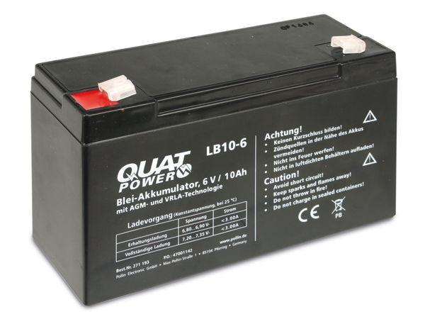 Blei-Akkumulator QUATPOWER LB10-6, 6 V-/10 Ah - Produktbild 3