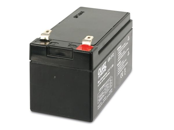 Blei-Akkumulator QUATPOWER LB1.3-12, 12 V-/1,3 Ah - Produktbild 2