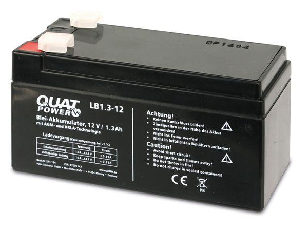 Blei-Akkumulator QUATPOWER LB1.3-12, 12 V-/1,3 Ah - Produktbild 3