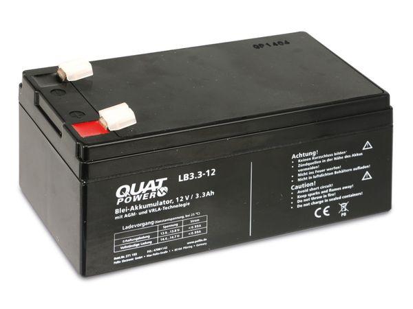 Blei-Akkumulator QUATPOWER LB3.3-12, 12 V-/3,3 Ah - Produktbild 3
