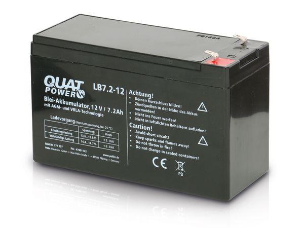 Blei-Akkumulator QUATPOWER LB7.2-12, 12 V-/7,2 Ah