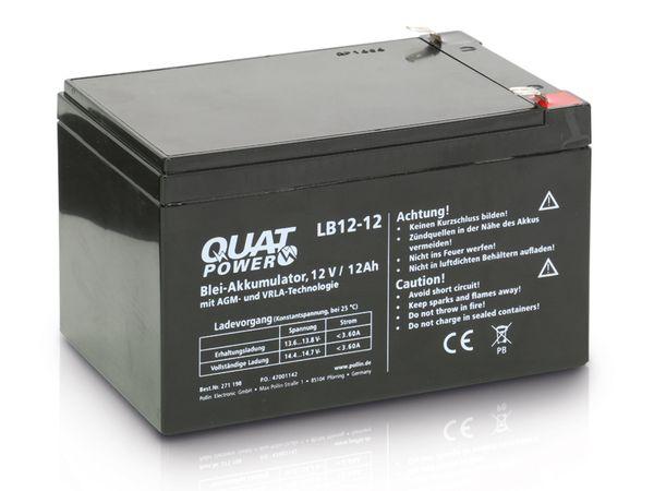 Blei-Akkumulator QUATPOWER LB12-12, 12 V-/12 Ah