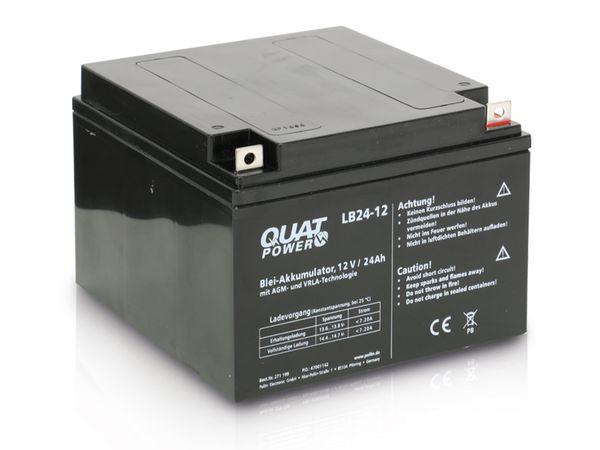 Blei-Akkumulator QUATPOWER LB24-12, 12 V-/24 Ah