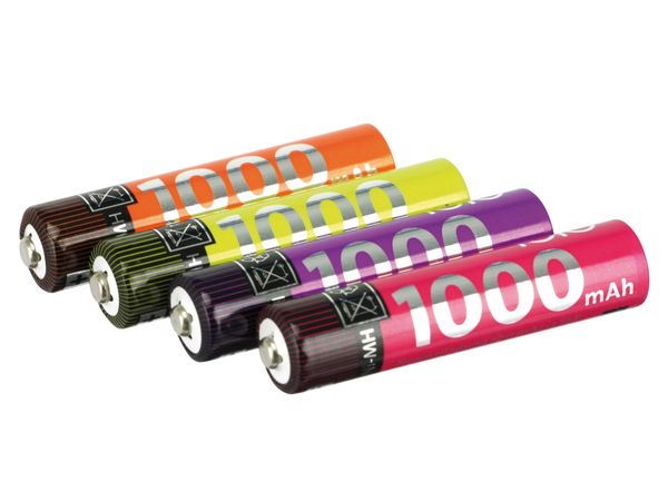 NiMH Micro-Akkus IOIO AD319, 1000 mAh, 4 Stück - Produktbild 1