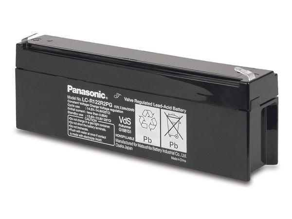 Bleiakkumulator PANASONIC LC-R122R2PG, 12 V-/2,2 Ah, VdS - Produktbild 1