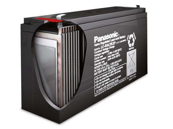 Bleiakkumulator PANASONIC LC-R122R2PG, 12 V-/2,2 Ah, VdS - Produktbild 2