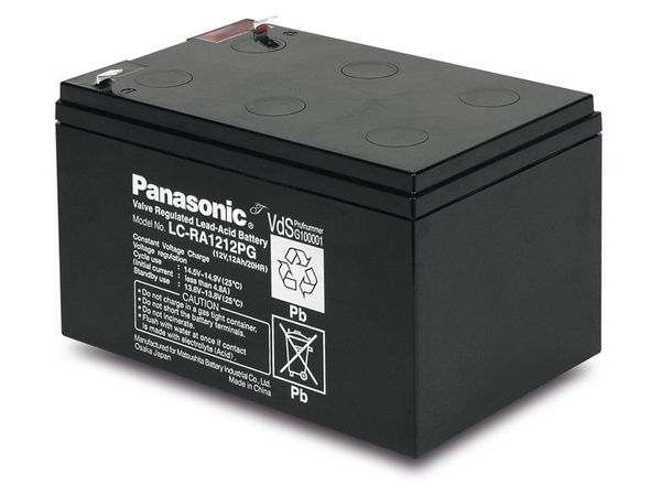 Bleiakkumulator PANASONIC LC-RA1212PG1, 12 V-/12 Ah, VdS - Produktbild 1