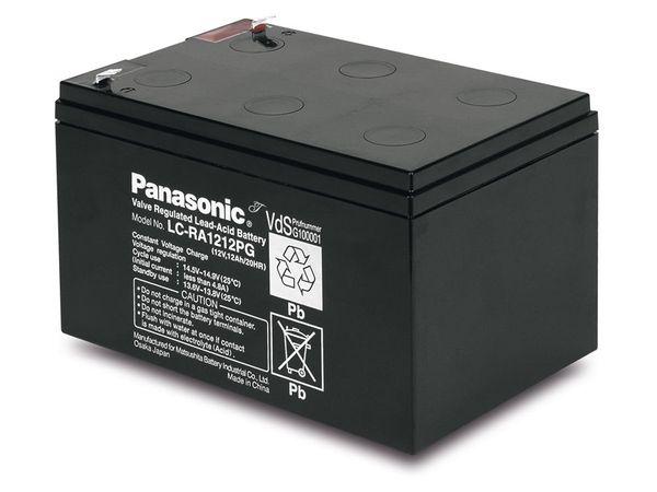 Bleiakkumulator PANASONIC LC-RA1212PG1, 12 V-/12 Ah, VdS