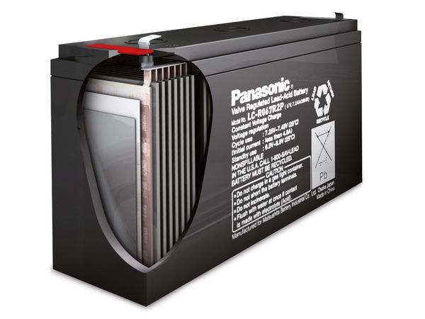 Bleiakkumulator PANASONIC LC-RA1212PG1, 12 V-/12 Ah, VdS - Produktbild 2