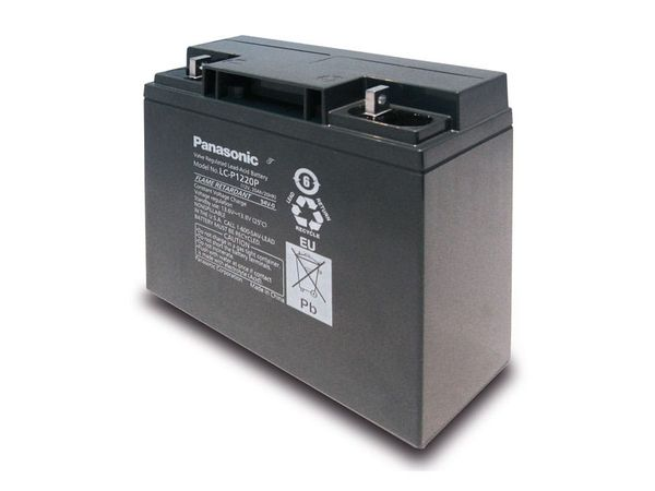 Bleiakkumulator PANASONIC LC-P1220P, 12 V-/20 Ah - Produktbild 1