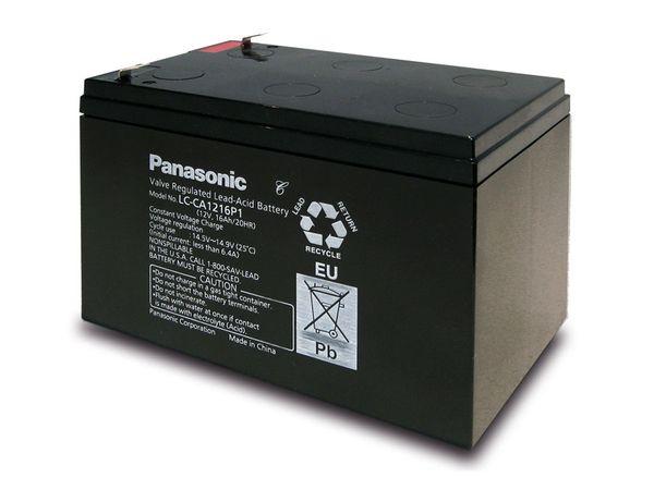 Bleiakkumulator PANASONIC LC-CA1216P1, 12 V-/16 Ah, zyklisch - Produktbild 1