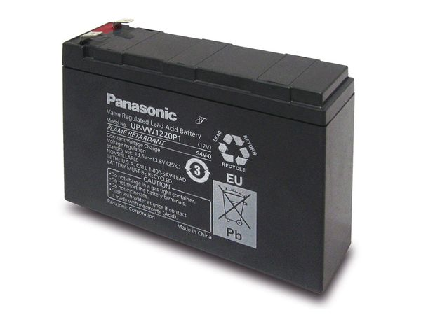 Bleiakkumulator PANASONIC UP-VW1220P1, 12 V-/4 Ah - Produktbild 1