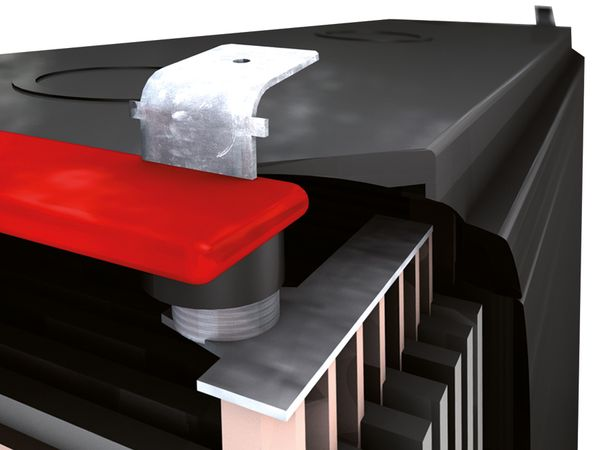Bleiakkumulator PANASONIC UP-VW1220P1, 12 V-/4 Ah - Produktbild 3