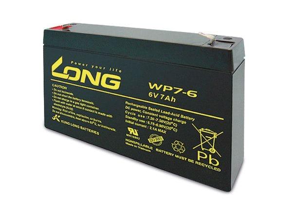 Blei-Akkumulator KUNG LONG WP7-6, 6 V-/7 Ah