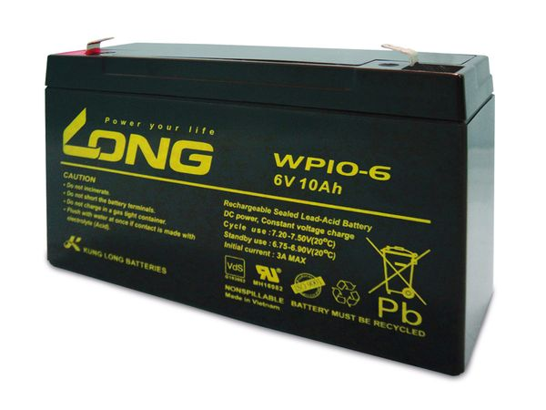 Blei-Akkumulator KUNG LONG WP10-6, 6 V-/10 Ah