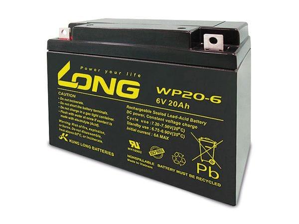 Blei-Akkumulator KUNG LONG WP20-6, 6 V-/20 Ah