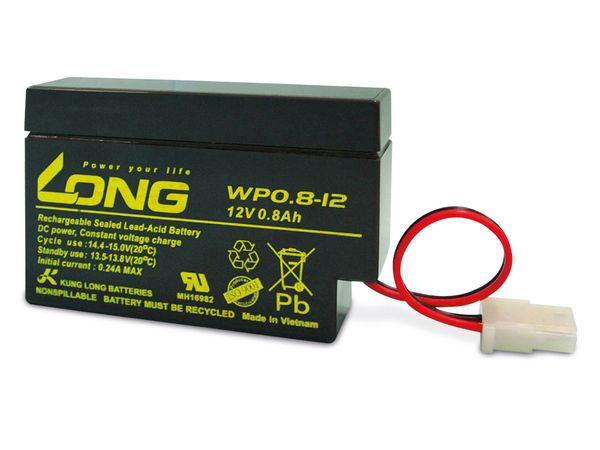 Blei-Akkumulator KUNG LONG WP0.8-12, 12 V-/0,8 Ah