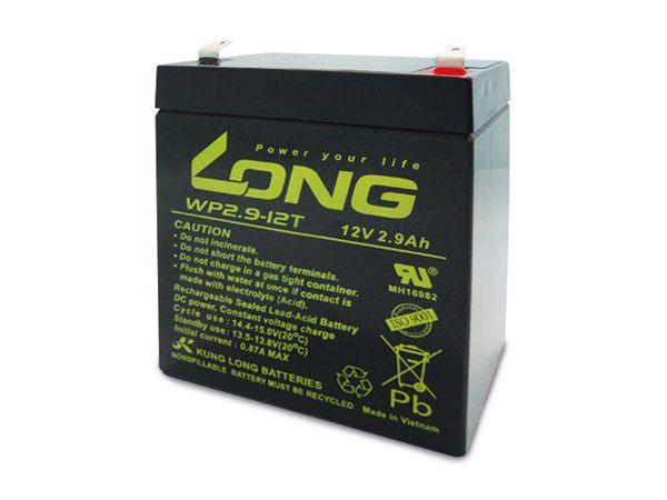 Blei-Akkumulator KUNG LONG WP2.9-12, 12 V-/2,9 Ah